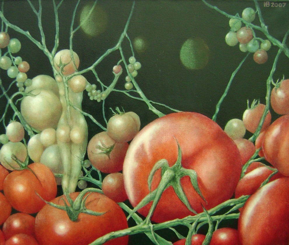 Delicious tomato, 50x60 cm, oil on canvas, 2007.