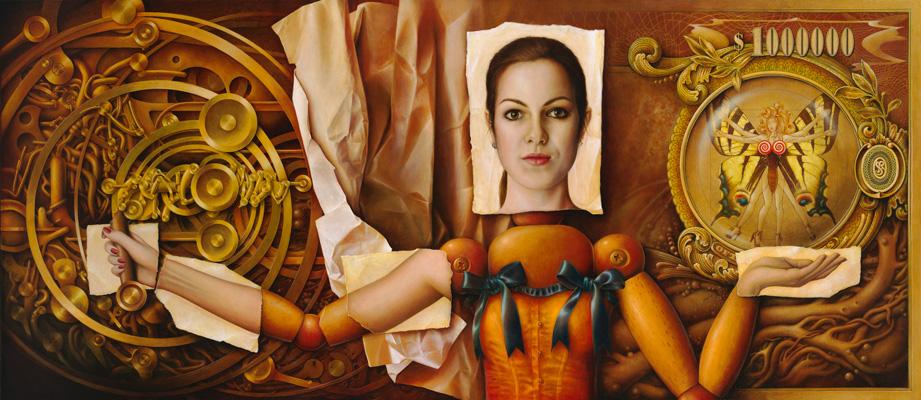 Revelation, 100x130 cm, acrylic – oil on canvas, 2010-2012.