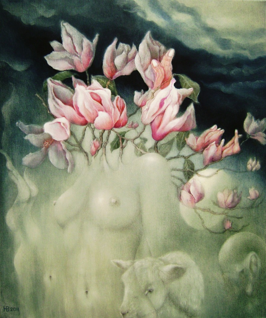 Flora magnolia, 60x50 cm, oil on canvas, 2011.