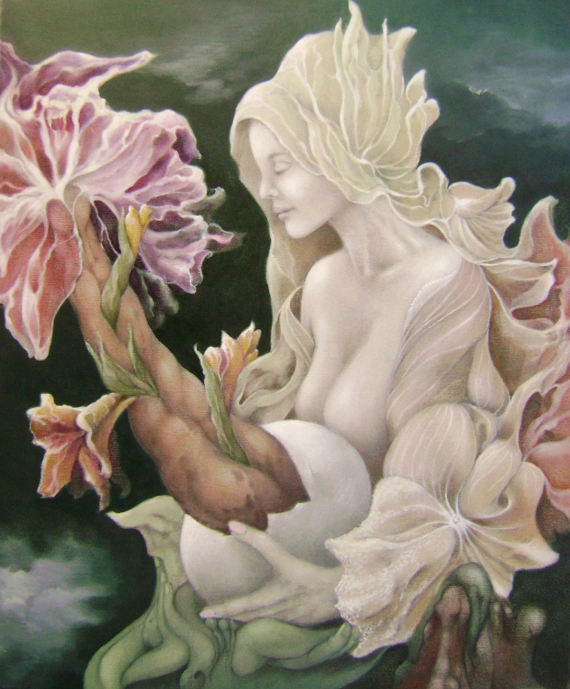 Flora with amorphophallus, 60x50 cm, oil on canvas, 2012.