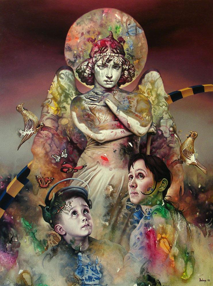 Harmonija, 80x60 cm,Acrylic and oil on canvas, 2012.