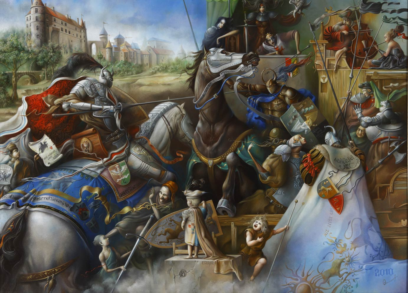 Joust. The end of August.(Augustus's end), 100x140 cm, oil on canvas, 2010.