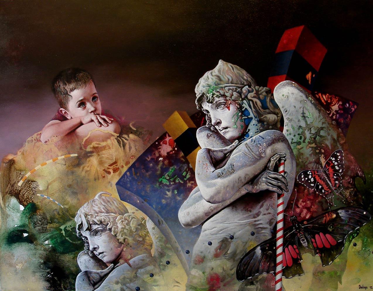Marfi je zakon, 60×80 cm, Acrylic and oil on canvas, 2012.