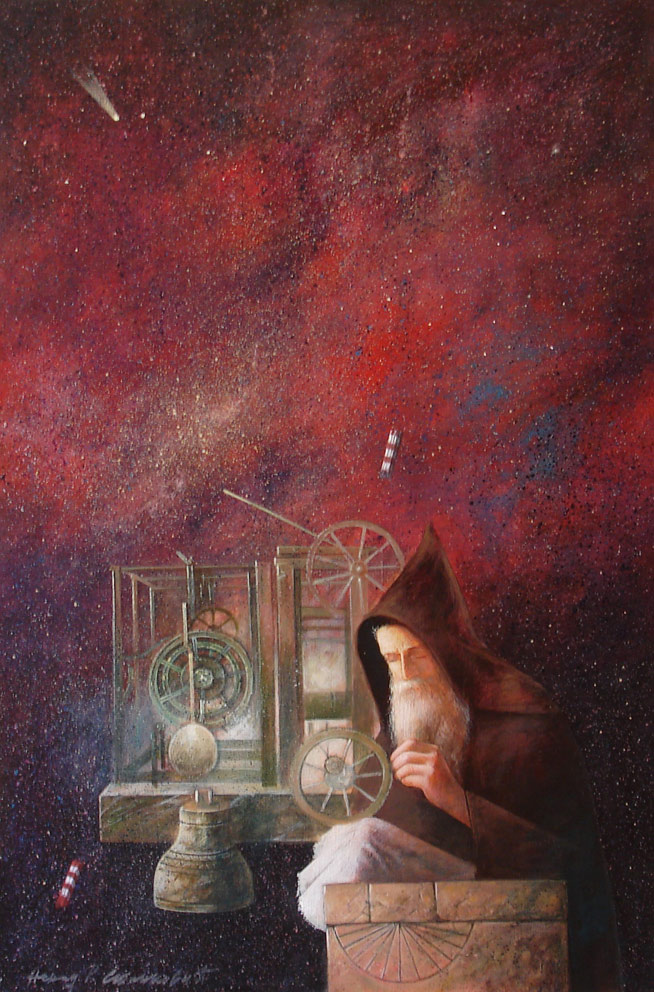 The Inventor, 60x40cm, mixed media, 2012.