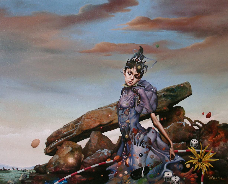 Samo sada, 40×30 cm, Acrylic and oil on canvas, 2010.