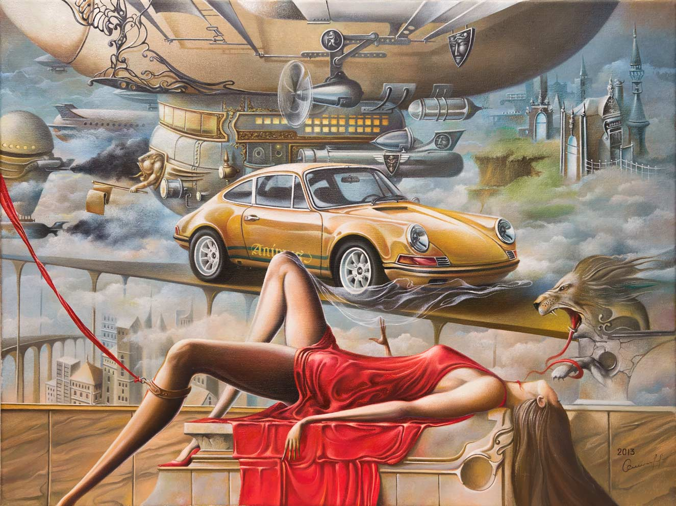Taxi to the Altar of the Desires, 60x80 cm, oil on canvas, 2013.