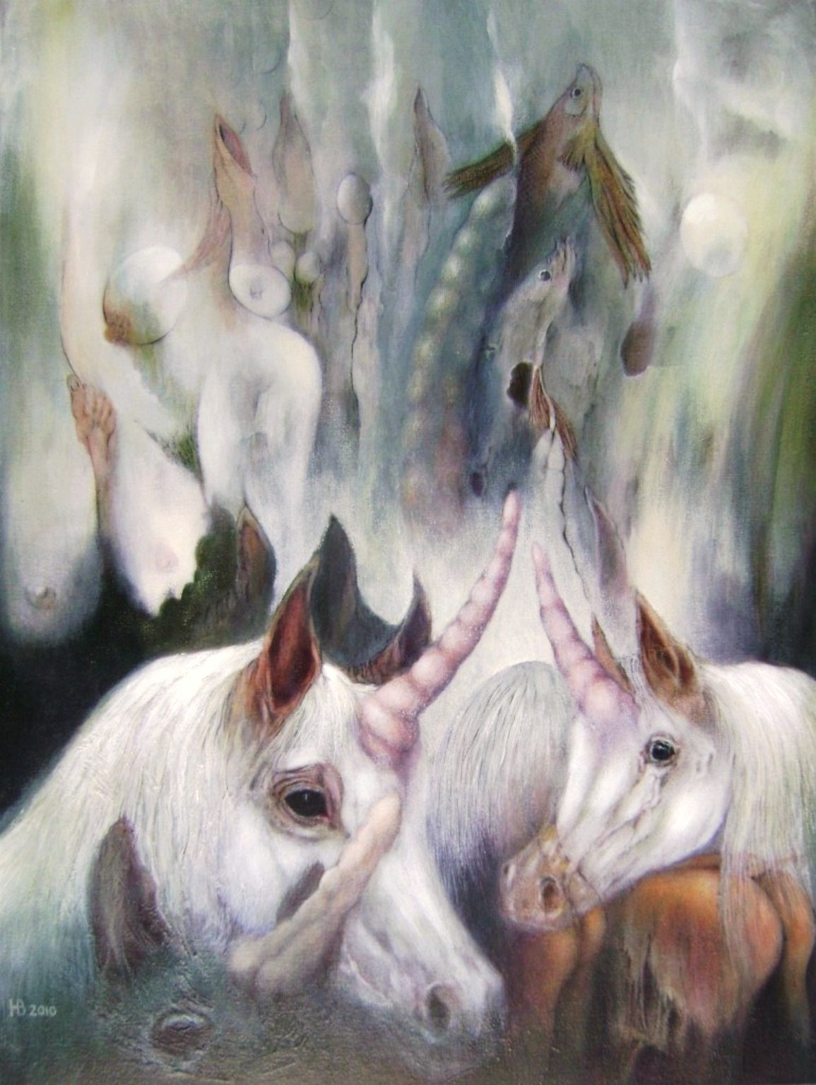 Unicorni, 80x60 cm, oil on canvas, 2010.