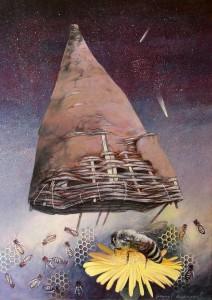 Viman-radjanje proleca, kombinovana tehnika, 2012., 70x50 cm