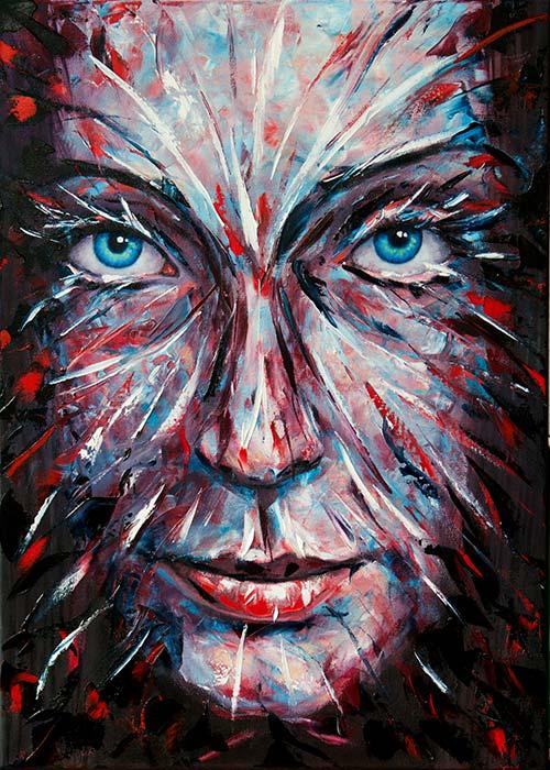 Jule 2, 70×50 cm,oil on canvas, 2010