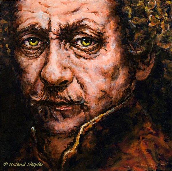 Rembrandt, 60×60 cm,oil on canvas, 2008.
