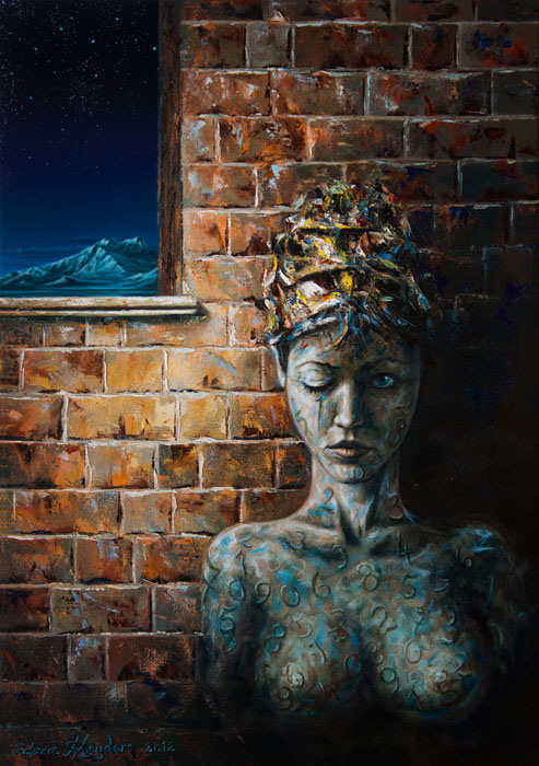 Waiting, 65×46 cm,oil on canvas, 2012.