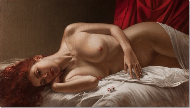 La sorte, 40x70 cm, oil on canvas, 2012.